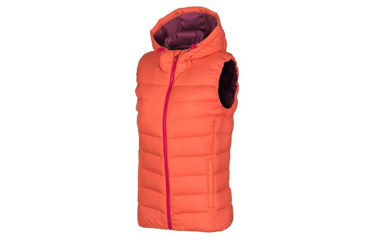 Fashion Woman Winter Portable Warm Hooded Goose Down Vest for Wholesale Waistcoat