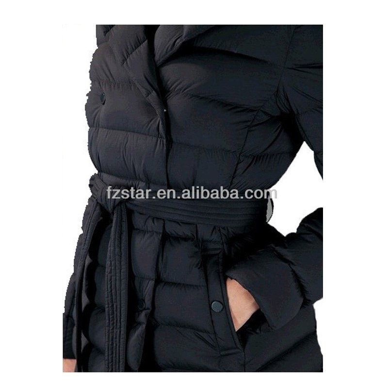 Ladies Belted Long Down Coat PQ240