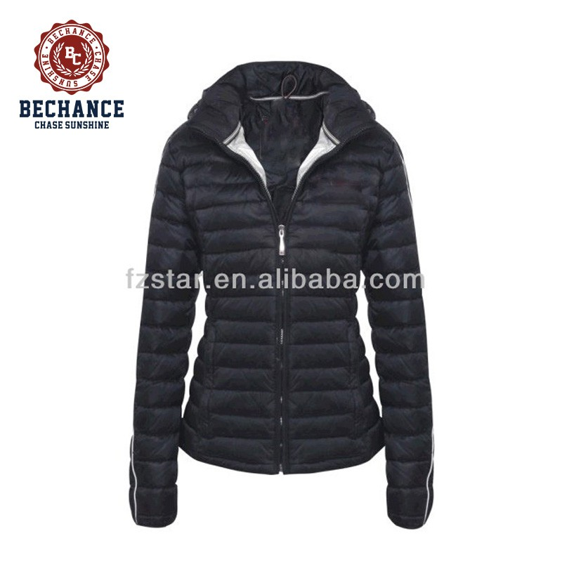 Women's Black Down Jacket PQ270