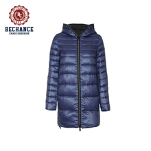 Women's Stylish Long Hooded DownJacket Winter Overcoat Wholesale Clothing