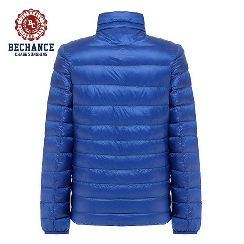 OEM Service Men Ultra Light Black Winter Down Jacket Packable Lightweight Coat Short Outwear PQ401