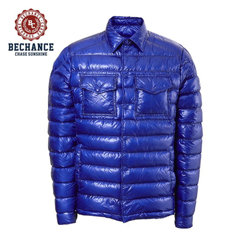 2017 New Men Blue Dowm Jacket Branded Name Winter Jacket